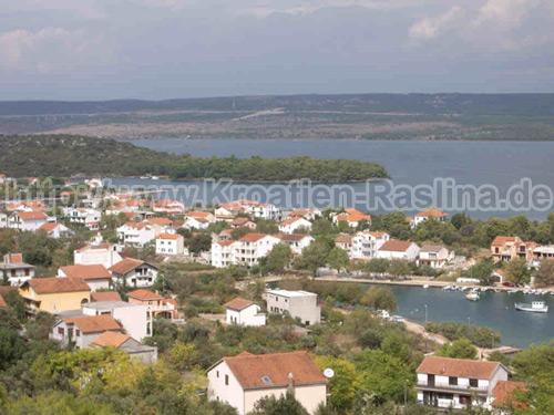 Kroatien Raslina Luftansicht