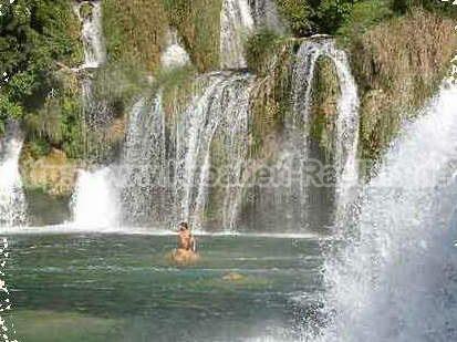 Kroatien Raslina Wasserfälle