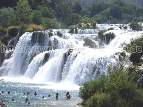 Kroatien Raslina Wasserfällle